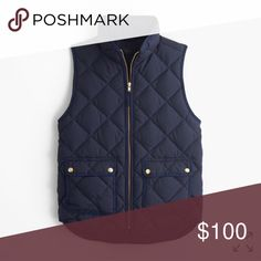 Puffer Vest Quilted Puffer Vest. I am selling a camel colored one. Purchased in 2015. Never worn. It's in fantastic shape. J. Crew Jackets & Coats Vests