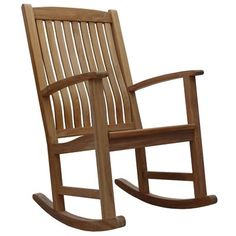 online shopping for Douglas Nance Classic Rocking Chair from top store. See new offer for Douglas Nance Classic Rocking Chair Rocking Chairs For Sale, Teak Rocking Chair, Outdoor Rocking Chairs, Wicker Chairs, Patio Chairs, Traditional Outdoor Chairs, Cafe Chairs, Teak Wood, Living Room Chairs