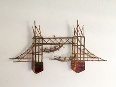 Brutalist Copper Metal Bridge Wall Art by TheGalwayGirrl on Etsy
