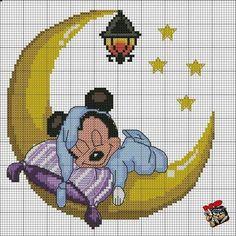 Mickey Mouse x-stitch Disney Cross Stitch Patterns, Modern Cross Stitch Patterns, Cross Stitch Designs, Cross Stitching, Cross Stitch Embroidery, Hand Embroidery, Embroidery Patterns, Disney Stitch, Lilo And Stitch
