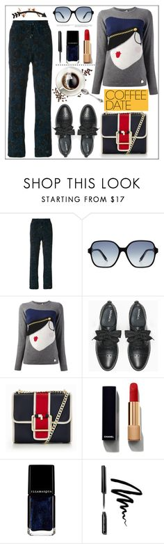 """""""Buzzworthy: Coffee Date"""" by pat912 ❤ liked on Polyvore featuring Kenzo, Victoria Beckham, Love Moschino, Max&Co., Tommy Hilfiger, Chanel, Illamasqua, Bobbi Brown Cosmetics, Wild Hearts and polyvoreeditorial"""