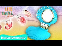 Shell Hacks for Real Life Mermaids | LIFE HACKS FOR KIDS - YouTube Fun Crafts, Crafts For Kids, Arts And Crafts, Mermaid School, Real Life Mermaids, Mermaid Diy, Life Hacks For School, Mermaid Parties, Diy Christmas Gifts