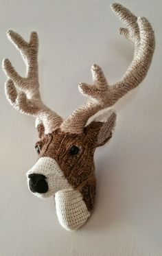Handmade Faux Taxidermy - Deer Head Wall Art - Paper Mache and Recycled Materials