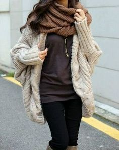 cozy looking cardigan, great for winter weather
