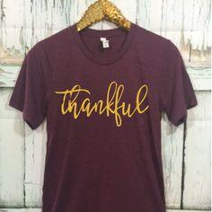 THREE OFF Thankful Unisex T-Shirt, Thanksgiving Shirt, Thankful Shirt, Grateful, Gobble Till you Wobble, Holiday Shirt by ShopatBash on Etsy