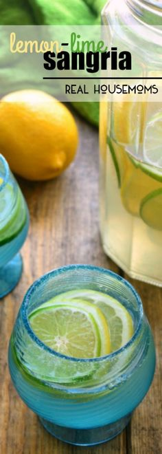 This LEMON-LIME SANGRIA is deliciously refreshing and packed full of bright citrus flavors! The perfect drink for citrus season!