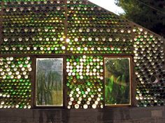 pictures of bottle walls | Produce No Waste: Bustan Qaraaqa's bottle walls