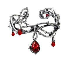 Alchemy Gothic Passion Teardrop Bracelet Cuff