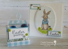 Stampin' Up! Fable Friends Easter card and gift box. Art with Heart team March blog hop.