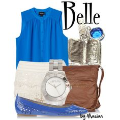 Disneybounding Belle by callmemasian on Polyvore