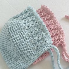 Baby Hats Knitting, Knitting For Kids, Crochet For Kids, Crochet Baby, Knitted Hats, Knit Crochet, Easy Knitting Patterns, Baby Patterns, Charlotte Bonnet