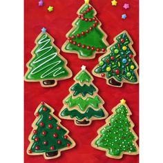 Christmas Cookies House Flag christmas cookies Minimalist Christmas Tree Sugar Cookies by GingerSnapMarket Christmas Tree Cookies, Iced Cookies, Christmas Sweets, Christmas Cooking, Noel Christmas, Christmas Goodies, Holiday Cookies, Holiday Treats, Holiday Recipes