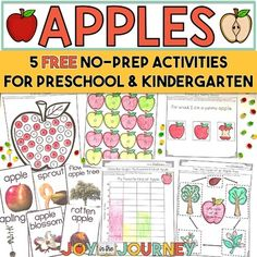 FREE Apple Activities by Joy in the Journey by Jessica Lawler | Teachers Pay Teachers
