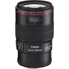 Canon EF 100mm f/2.8L IS USM Macro Auto Focus Lens - U.S.A.