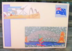 Sydney Harbour handmade card any occasion FWB by RogueKissedCraft Etsy Store, Sydney, Birthday Cards, Tourism, Kids Rugs, Awesome, Handmade, Crafts, Bday Cards