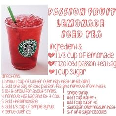 How to Make Your Favorite Starbucks Drink at Home passio. - How to Make Your Favorite Starbucks Drink at Home passion fruit lemonade ic - Vegan Starbucks, Low Carb Starbucks Drinks, Starbucks Tea, Starbucks Secret Menu Drinks, Starbucks Pink Drink Recipe, Starbucks Valentines, Starbucks Frappuccino, Smoothie Drinks, Smoothie Recipes