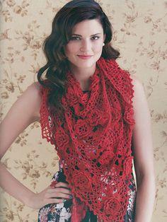 Victoriana Beautiful Shawl crochet pattern from AnniesCraftStore.com. Order here: https://www.anniescatalog.com/detail.html?prod_id=123741&cat_id=24