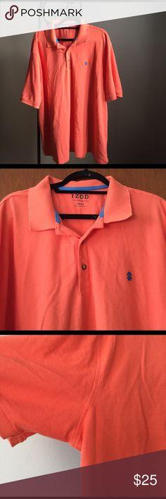 Izod Men's short sleeved Polo NWOT Izod men's short sleeved polo, never worn, NWOT, salmon/orange/coral color, size 3XB Izod Shirts Polos