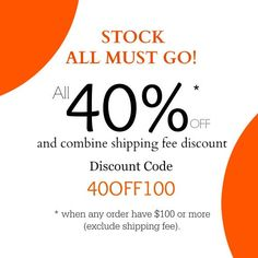 Closing Soon! 40% OFF all stock Must Go and combine shipping by yooounique