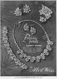 1959 Albert Weiss ad 'Persian Petals'