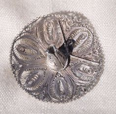 VINTAGE HANDCRAFTED STERLING SILVER FILIGREE SOMBRERO HAT PIN BROOCH, MEXICO #HandmadeHandcraftedMexico