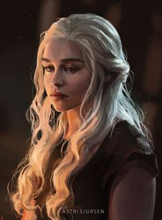Dany by Astri-Lohne on DeviantArt Dessin Game Of Thrones, Arte Game Of Thrones, Emilia Clarke Daenerys Targaryen, Game Of Throne Daenerys, Kai, Game Of Thones, Mother Of Dragons, Her Hair, Fantasy Art