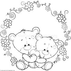Teddy Bear Coloring Pages, Horse Coloring Pages, Cool Coloring Pages, Coloring Pages For Grown Ups, Christmas Coloring Pages, Doodle Coloring, Free Coloring, Adult Coloring Pages, Coloring Books