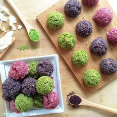 This raw macaroons recipe is very versatile. Add different flavors to the macaroons for fun colorful options like matcha, raspberry and acai.