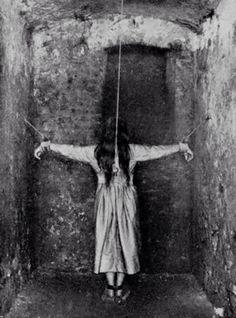 Asylum standing restraints, c. late 1800's.