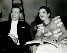 Nils Asther and Kay Francis on the set of The Man Who Lost Himself ...
