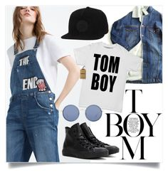 """""""TomBoy Wardrobe Basics"""" by captainsilly ❤ liked on Polyvore featuring Zara, ssongbyssong, Converse and Linda Farrow"""