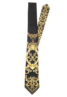 Versace Krawat black/gold 509.00zł Materiał: 100% jedwab  #moda #fashion #men #mężczyzna #versace #krawat #męski #black #gold #złoty #czarny #jedwab