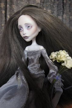 Your place to buy and sell all things handmade Ooak Dolls, Art Dolls, Ivory Roses, Monster High Repaint, Medieval Fashion, Hair A, Lilac, Goth, Fashion Dresses