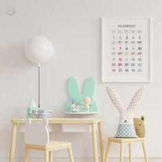Minimal Numbers Print Classroom Art Educational Print | Etsy Home Schooling, Art Classroom, Art Wall Kids, Nursery Prints, Printable Wall Art, Kids And Parenting, Interior Inspiration, Online Printing, Living Spaces