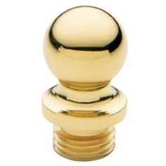 Baldwin 1090.I Solid Brass Ball Tip Finial for Square Corner Hinges (Quantity 2) Non-Lacquered Brass Door Hinge Finial Ball Tip