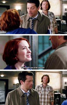 """Poor Cas. He's like """"IT'S BECAUSE SAM IS A FREAKING GIANT!"""" and Sam is just like """"hehehehe"""""""