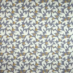 Doves fabric - perfect for a chair that needs covering. Staple-gun at the ready.