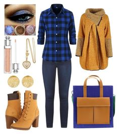 """""""timberland"""" by martyswordrobe on Polyvore featuring Dorothy Perkins, Mad Rabbit Kicking Tiger, Timberland, Carolina Bucci and Christian Dior"""