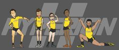 Introducing the Hyperion Corporation's official dodgeball team
