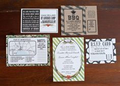 Outdoor wedding invitations - Photography by leilabrewsterphotography.com, Floral Design by julies4flowers.com