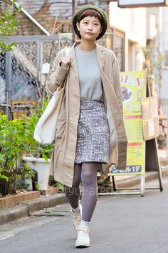 Sakika | LEPSIM LOWRYS FARM Santa Monica used 靴下屋 CONVERSE | 1st week Dec. 2015 | Harajuku | TOKYO STREET STYLE | TOKYO STREET FASHION NEWS | style-arena.jp