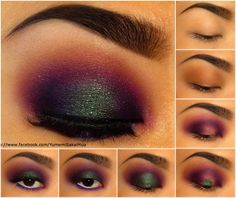Anastasia brow powder duo in Dark Brown, Urban Decay Naked palette, Sugarpill Cosmetics pressed eyeshadow in Poison Plum, Dollipop, Tako and Velocity, and loose eyeshadow in Junebug