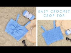 Easy Crochet Crop Top 3 ways! Free Pattern and YouTube tutorial. Perfect crochet porject for Spring Break or Summer!