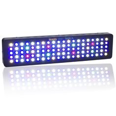 MarsAqua Dimmable 300w LED Aquarium Light lighting Full Spectrum For Freshwater and Saltwater Fish Coral Tank Blue and White LPS/SPS