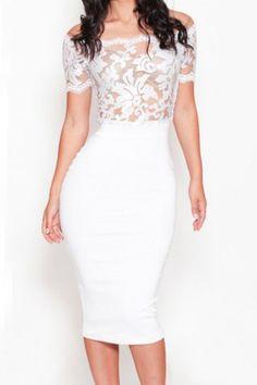 Sexy Plunging Neck Short Sleeve Floral Print Bodycon Women's DressClub Dresses   RoseGal.com