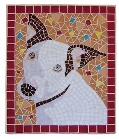 Custom mosaic dog portrait by CreativeArfs.com