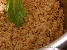 Barna rizs, barnarizs főzése Fried Rice, Paleo, Ethnic Recipes, Food, Bulgur, Essen, Beach Wrap, Meals, Nasi Goreng
