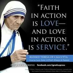 I saw St Teresa (Mother Teresa) of Calcutta on TV in the early 1980s receiving the Nobel Peace Prize.
