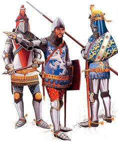 1. Sir John Chandos, KG 2. Sir Thomas Holand, KG 3. William de Bohun, Earl of Northampton, KG  Battles of Crecy and Poitiers