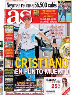 Los Titulares y Portadas de Noticias Destacadas Españolas del 4 de Junio de 2013 del Diario Deportivo As ¿Que le parecio esta Portada de este Diario Español?